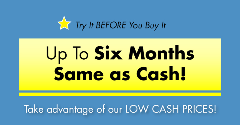 up to six months same as cash